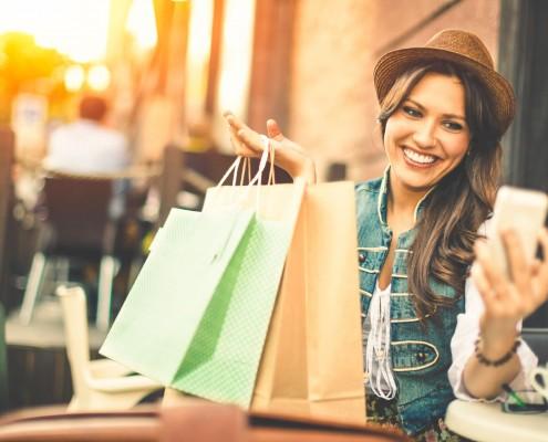 happy shopper paper bag